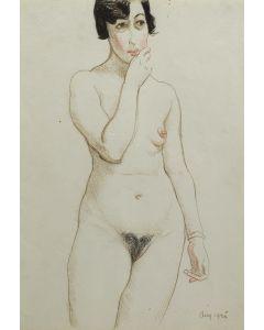 Maynard Dixon (1875-1946) - Nude, August 1925 (PDX90288B-1219-001)1