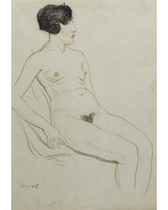 Maynard Dixon (1875-1946) - Nude, August 1925 (PDX90288B-1219-002)1