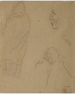 Maynard Dixon (1875-1946) - SOLD - Details of Indian Types