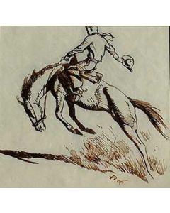 Maynard Dixon (1875-1946) - SOLD - Bucking Cowboy