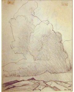 Maynard Dixon (1875-1946) - SOLD - Cloud and Mountain