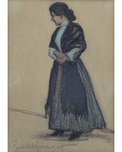 Maynard Dixon (1875-1946) - Guadalajara, Woman with Shawl