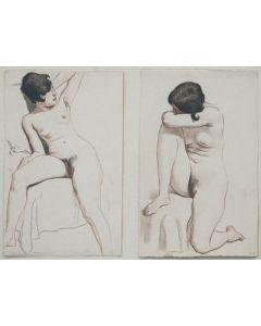 Maynard Dixon (1875-1946) - SOLD - Double Nude