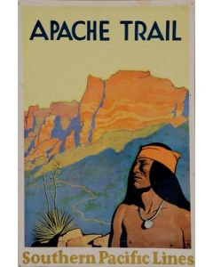 Maynard Dixon (1875-1946) - SOLD - Apache Trail Southern Pacific Lines