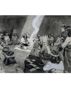 Maynard Dixon (1875-1946) - SOLD - Birth of Sacred Fire of Walpi