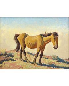Maynard Dixon (1875-1946) - Dude Ranch Horse