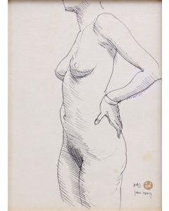 Maynard Dixon (1875-1946) - Standing Nude (PDX91660-0620-003)
