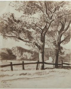 Maynard Dixon (1875-1946) - SOLD - Cottonwoods of Carson