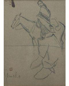 x SOLD Maynard Dixon (1875-1946) - Navajo Sketches #2, Ganado, Ariz. 1902