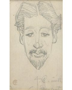 Maynard Dixon (1875-1946) - San Francisco Character #6 (J. C. with Haircut) 1904
