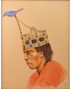 "Paul Pletka - Yaqui Dancer, c. 1970-80s, 24"" x 18.25"" (PLV90106-0214-017)"