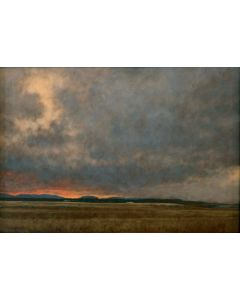 Jeff Aeling - Storm Passing at Twilight - New Mexico