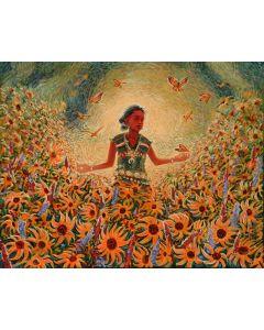 SOLD Shonto Begay - Hozbo'go', In the Realm of Beauty (Hozbo, In Beauty She Walks)