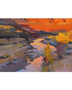Jill Carver - Sunset Study, Paria River (PLV90335B-0221-002)