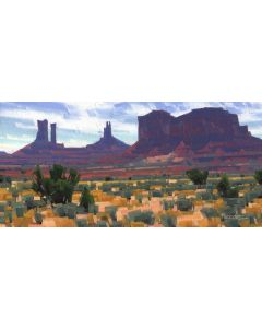 x SOLD Stephen C. Datz - Monuments at Midday (PLV90469-0520-014)