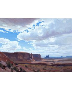 x SOLD Josh Elliott - Clouds Over Monument Valley