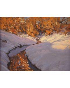 SOLD Bill Gallen - Winter Stream Afternoon