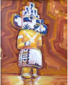 SOLD Josh Gibson - Kachina Study on Reflective Ground