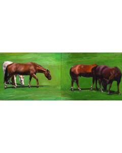 Moira Marti Geoffrion - Grazing #1 and #2 (Diptych) (PLV90762-0221-015)