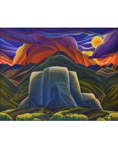 William Haskell - Taos Moonrise (PLV90844B-1219-001)