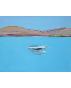 SOLD Gregory Kondos - Island Boat, Greece