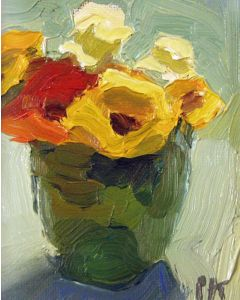 SOLD Peggi Kroll-Roberts - Floral (Green and Yellow)