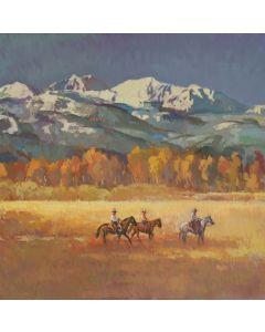 SOLD Francis Livingston - Snow Peaks