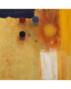 SOLD Alan Mazzetti - Yellow Field with Blue and Red
