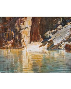 SOLD Merrill Mahaffey - Schist Reflections