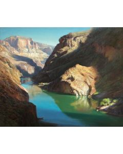 SOLD P. A. Nisbet - The Colorado River at Deer Creek