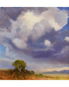 x SOLD P. A. Nisbet - Storm at Pecos