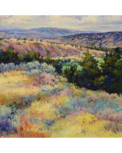 SOLD Tom Talbot (b. 1936) - New Mexico Village (PLV91550-1119-003)