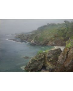 P. A. Nisbet - Foggy Shore