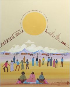 """Michael Chiago (b. 1946) - """"Sun"""" Dance"""