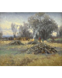 "Charles Fritz - Clearing the Trees, 12"" x 14"" (PLV91924-0614-004)"