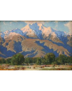 """Charles Fritz - The Desert Near Palm Springs, 8"""" x 12"""" (PLV91924-1013-018)"""