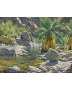 x SOLD Matt Smith - A Palm in Palm Canyon