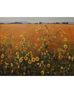 SOLD Gary Ernest Smith - Wild Sunflowers