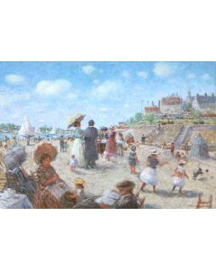 LOT 165 - Tom Perkinson (b. 1940) – A Day at the Beach (PLV91989C-0421-013)