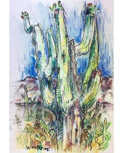James Woodside - Saguaro Near Sabino (PLV92383-0717-001)