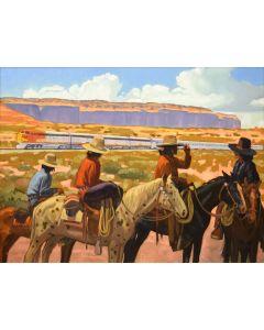 Dennis Ziemienski - Navajo Horsemen
