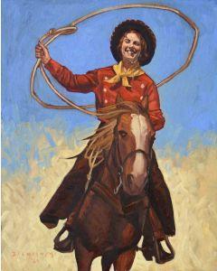 Dennis Ziemienski - Cowgirl with Lasso