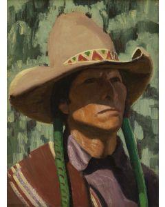 SOLD E.L. Blumenschein - Pueblo Scout