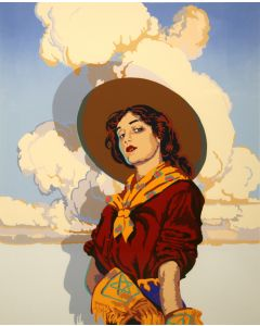 SOLD OUT Billy Schenck - Gone with the Gunsmoke (Serigraph)