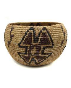"Paiute / Mono Polychrome Basket, c. 1910-20s, 6"" x 9"" (SK2049)"