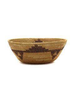"Mono Basket with Geometric Design c. 1900s, 2.25"" x 5.75"" (SK92346A-0421-010)"