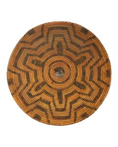 "Pima Basket with Geometric Design c. 1890s, 4.625"" x 15.25"""