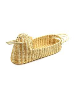 """Tohono O'odham Gapstitch Duck Basket c. , 8.5"""" x 7"""" x 21.5"""""""
