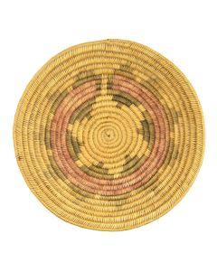 """Navajo Polychrome Wedding Basket c. 1920s, 3"""" x 15"""""""