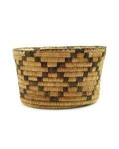 """Pima Polychrome Coil Basket c. 1920s, 4.75"""" x 7.75"""""""